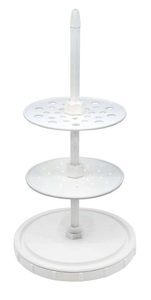 Pipette Stand, Polypropylene - Fits 28 Pipettes - Adjustable - Eisco Labs