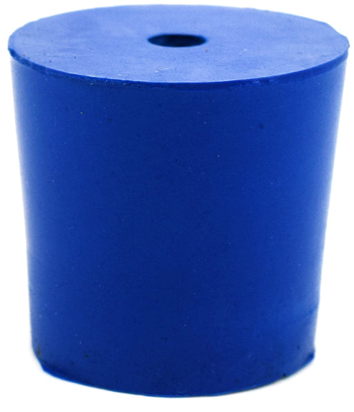 Neoprene Stopper ASTM, 1 Hole - Blue, Size #5 - 23mm Bottom, 27mm Top, 25mm Length - Pack of 10 - Eisco Labs