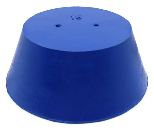 10PK Neoprene Stoppers, 2 Holes - ASTM - Size #16 - 90mm Bottom, 127mm Top, 50mm Length