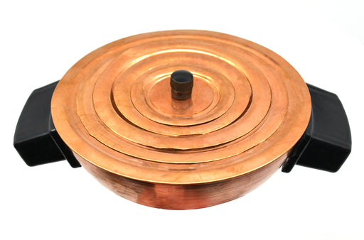Water Bath, 125ml Capacity, Hemispherical with  Set of Concentric Rings, Two Handles, Sheet Copper - Eisco Labs