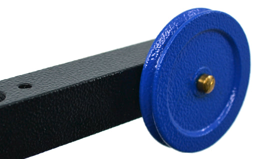 "Aluminum Mounting Pulley, 2"" Diameter (50mm), For Rods up to 13mm Diameter, Tapped Holes - Eisco Labs"