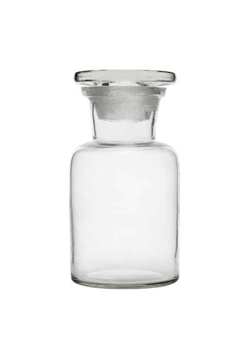 Reagent Bottle, 125ml - Wide Neck - Glass Stopper - Soda Glass