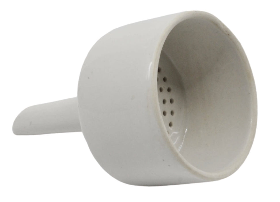 Buchner Funnel, 6cm - Porcelain - Straight Sides, Perforated Plate