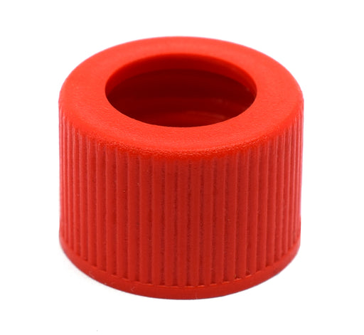 Threaded Screw Cap, Open - Joint Size 14/23 - Plastic, Red Color - Spare / Additional Part - Eisco Labs