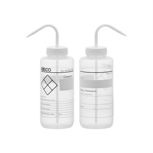 2PK Performance Plastic Wash Bottle, Blank Label, 1000 ml
