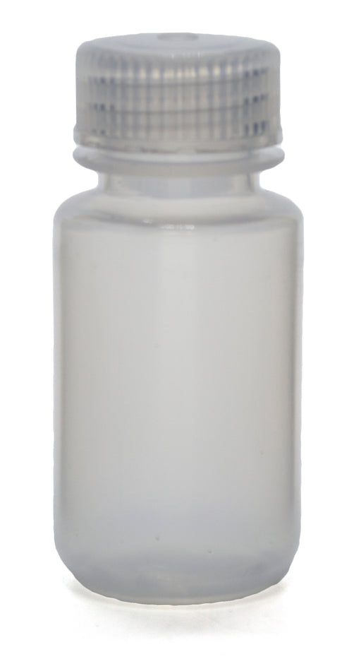 "60mL Rigid Plastic Reagent Bottle with Wide Mouth (0.8"" ID) and Screw Cap - Polypropylene - Eisco Labs"