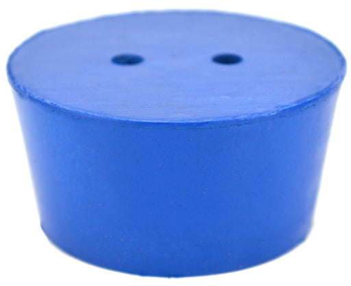 10PK Neoprene Stoppers, 2 Holes - ASTM - Size #10 - 42mm Bottom, 50mm Top, 25mm Length