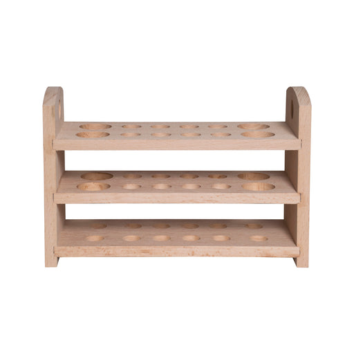 Wooden Test Tube Stand - 3 Tier - Holds 12 Tubes
