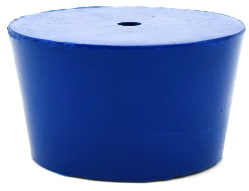 Neoprene Stopper ASTM, 1 Hole - Blue, Size #8.5 - 36mm Bottom, 43mm Top, 25mm Length - Pack of 10 - Eisco Labs