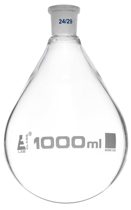 Evaporating Flask, 1000ml - 24/29 Interchangeable Joint - Borosilicate Glass - Eisco Labs