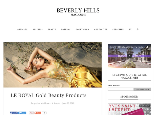Beverly Hills Magazine - LE ROYAL Gold