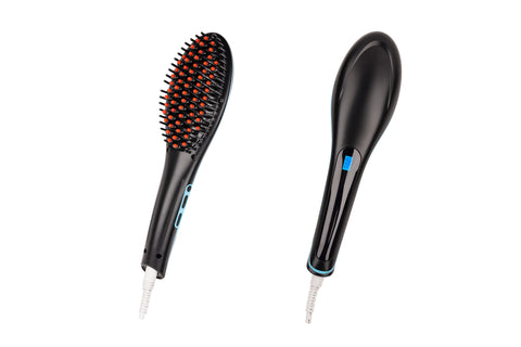 Hair Guru Straightening Anti-Frizz Styling Brush - Black