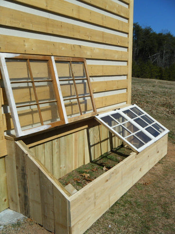 repurposed window cold frame