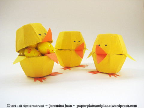 egg carton easter chicks