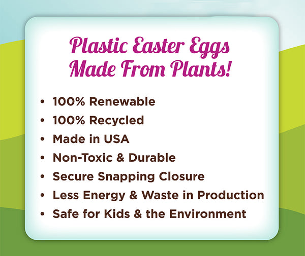 Plastic Easter Eggs Made From Plants!