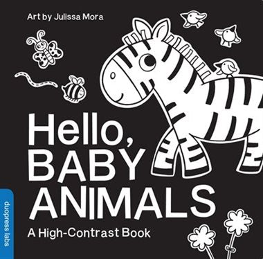 Hello Baby Animals - A High Contrast Board Book