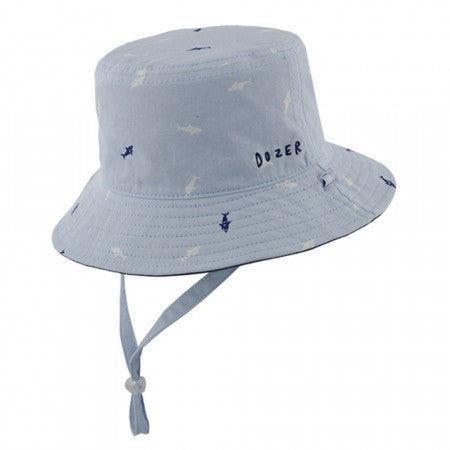 Dozer Baby Boys Bucket Hat - Deep Sea Blue