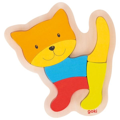 Goki - 6 Piece Wooden Cat Puzzle
