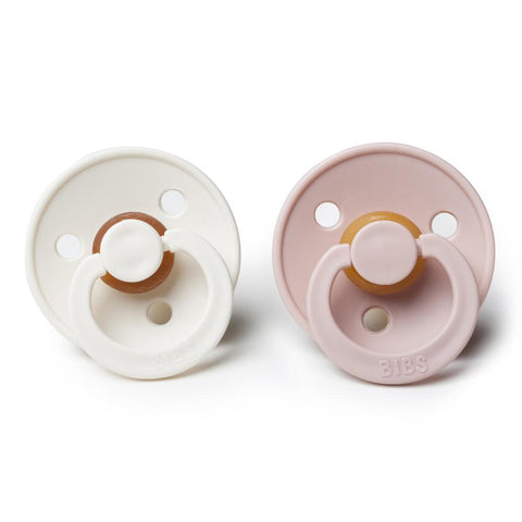 Bibs Pacifier - 2 Pack - Ivory / Blush