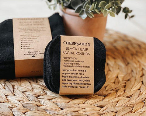 Cheeks Ahoy - Black Hemp Facial Rounds