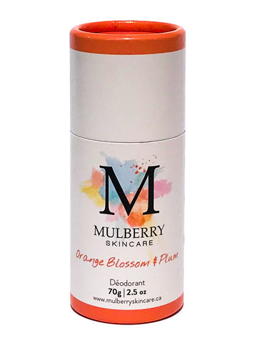 Mulberry Skincare Orange Blossom and Plum Deodorant (Baking Soda Free)