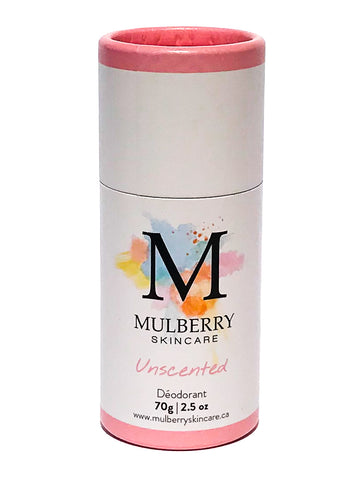 Mulberry Skincare Unscented Deodorant (Baking Soda Free)