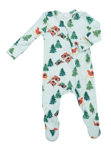 Angel Dear - Zippered Footie - Bison Holiday