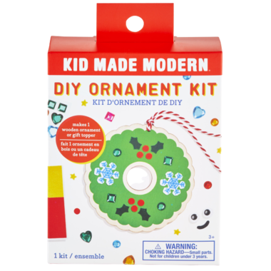 Kid Made Modern DIY Wooden Wreath Ornament Kit