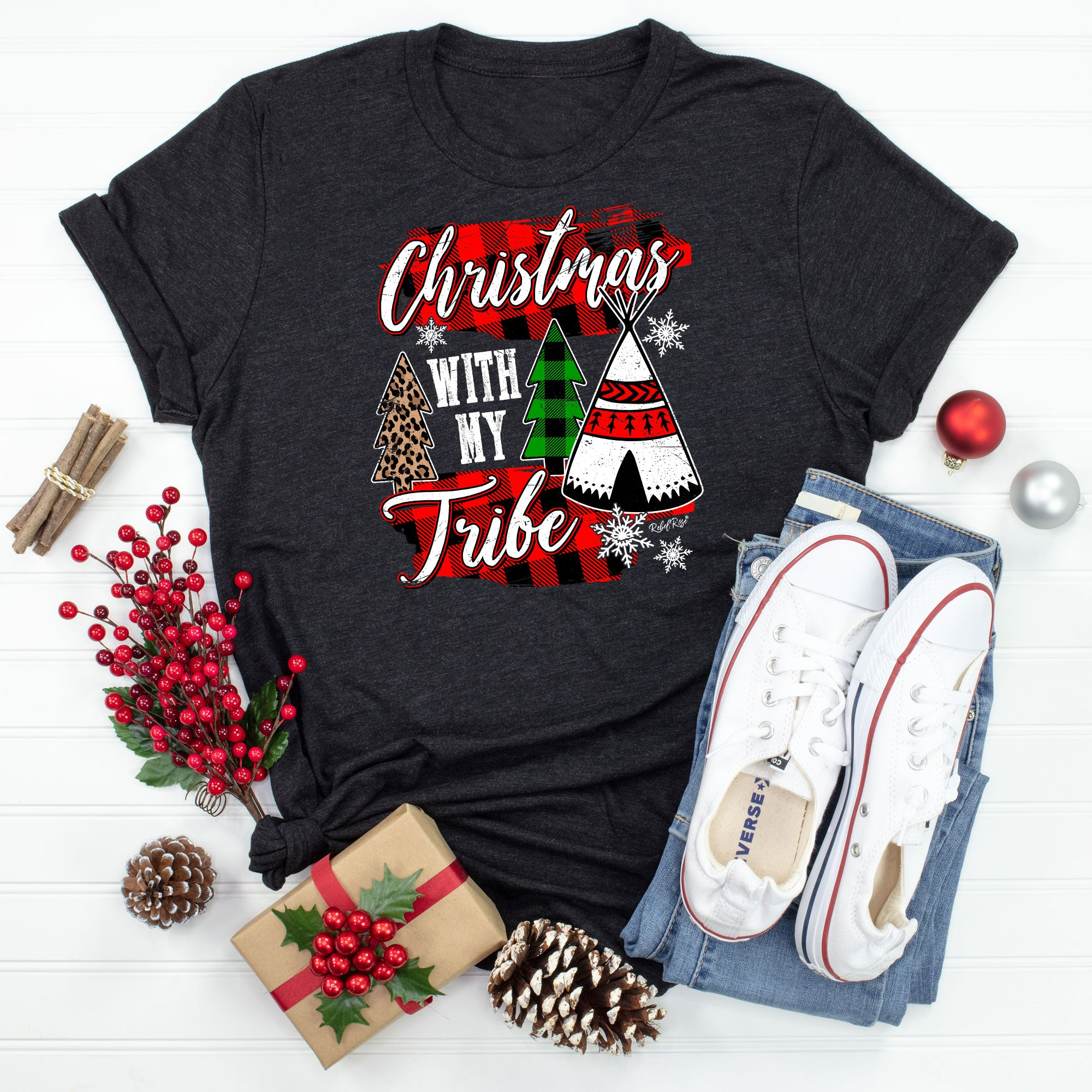 Christmas With My Tribe Black