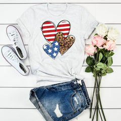 Leopard Stars & Stripes Hearts
