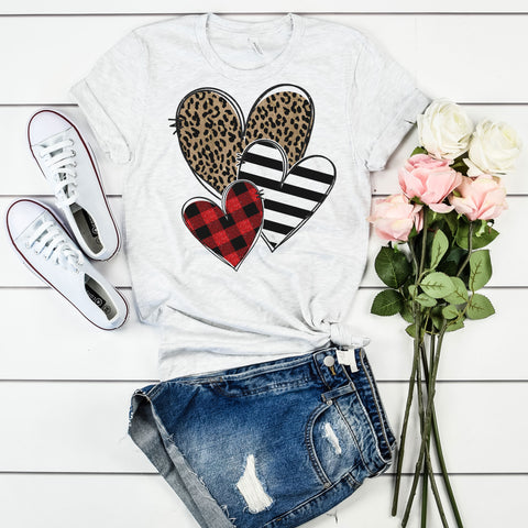 Leopard Stripe Plaid Hearts