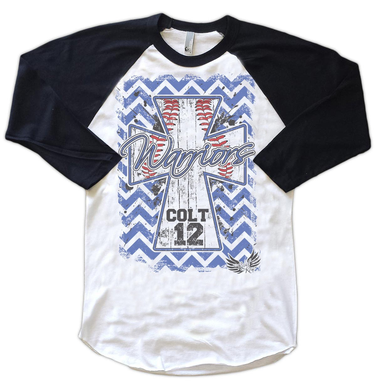 Raglans - Chevron Baseball Cross