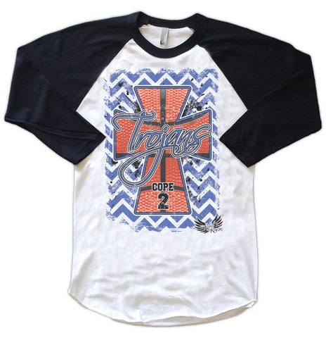 Raglans - Chevron Basketball Cross