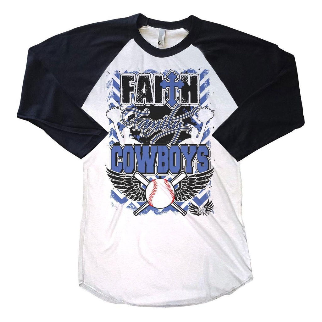 Raglans - Faith, Family, Baseball