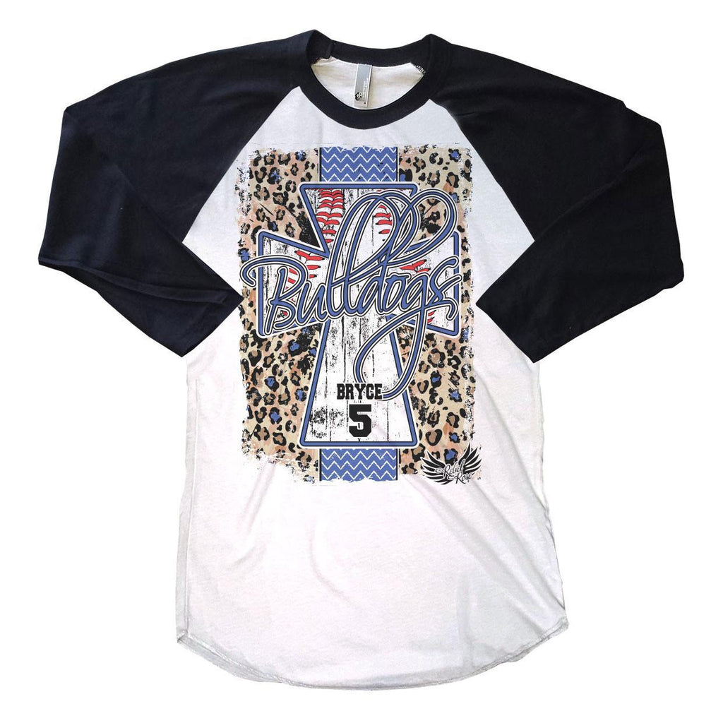 Raglans - Leopard Baseball Cross