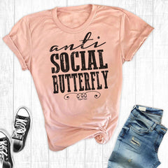 T-Shirts - Anti Social Butterfly