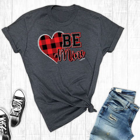 T-Shirts - Buffalo Plaid Be Mine