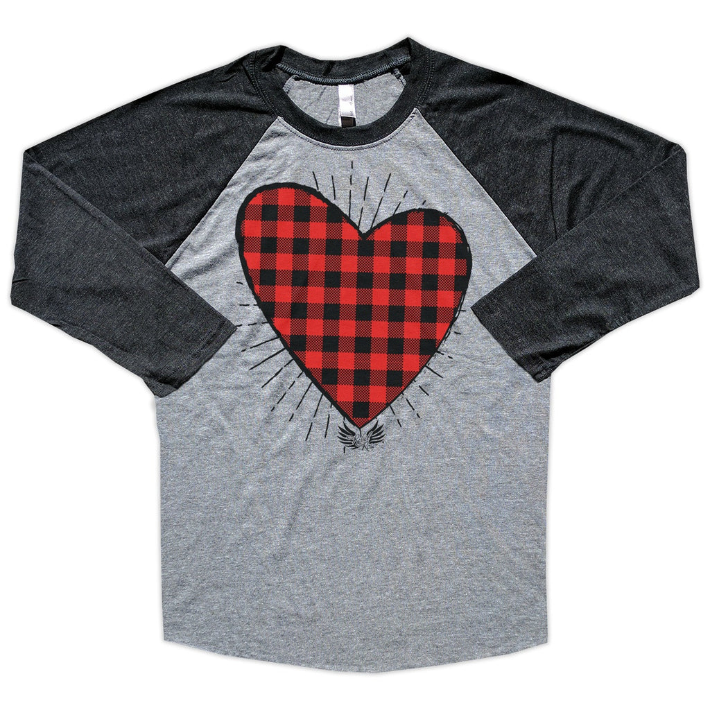 T-Shirts - Buffalo Plaid Heart