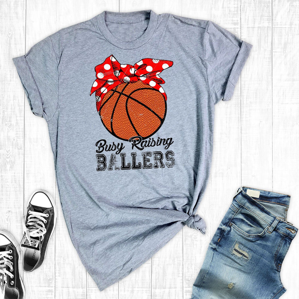 T-Shirts - Busy Raising Ballers Basketball