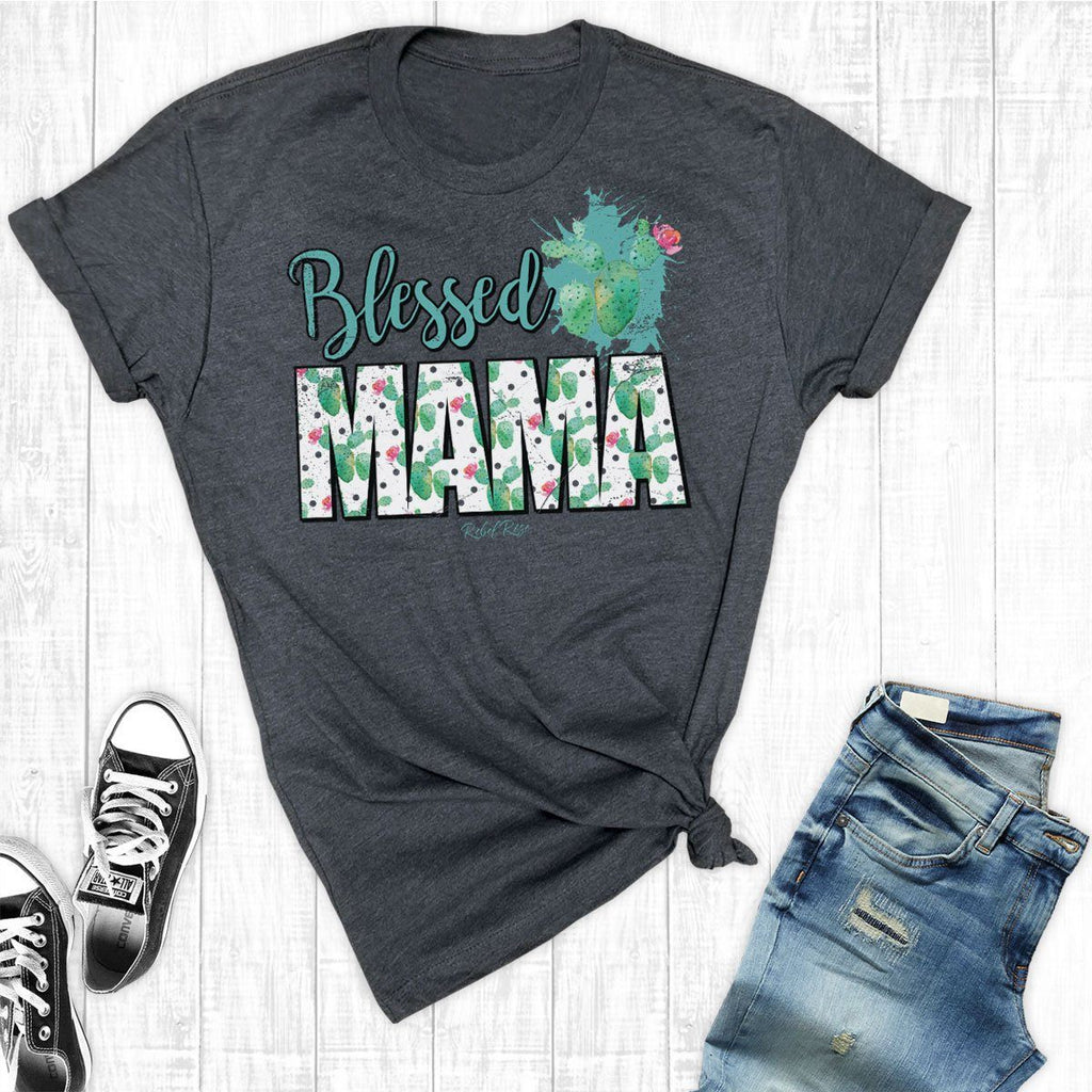 T-Shirts - Cactus Blessed Mama