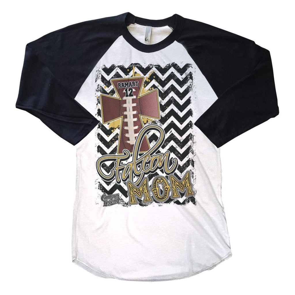T-Shirts - Chevron Football Mom