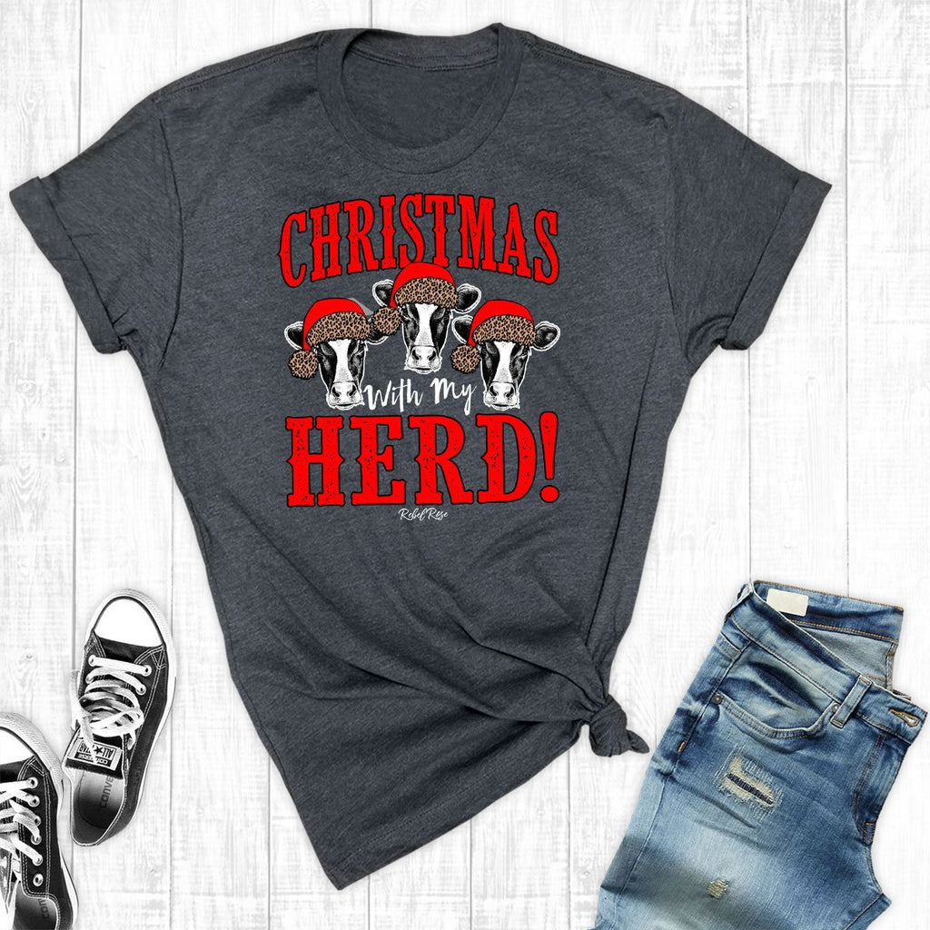 T-Shirts - Christmas With My Herd