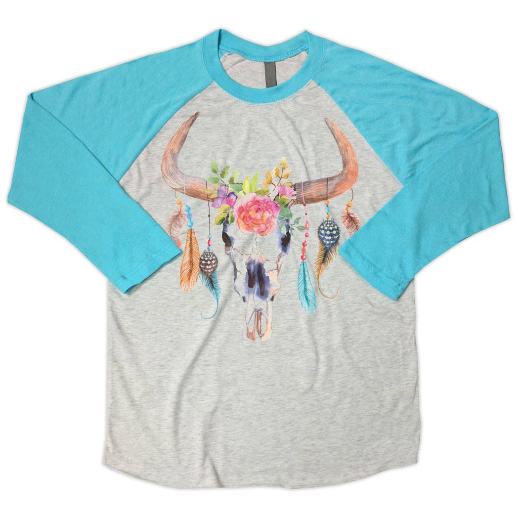 T-Shirts - Colorful Cow Skull