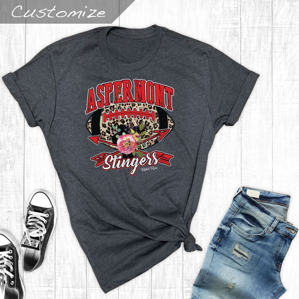 T-Shirts - Football Leopard Aspermont Stingers