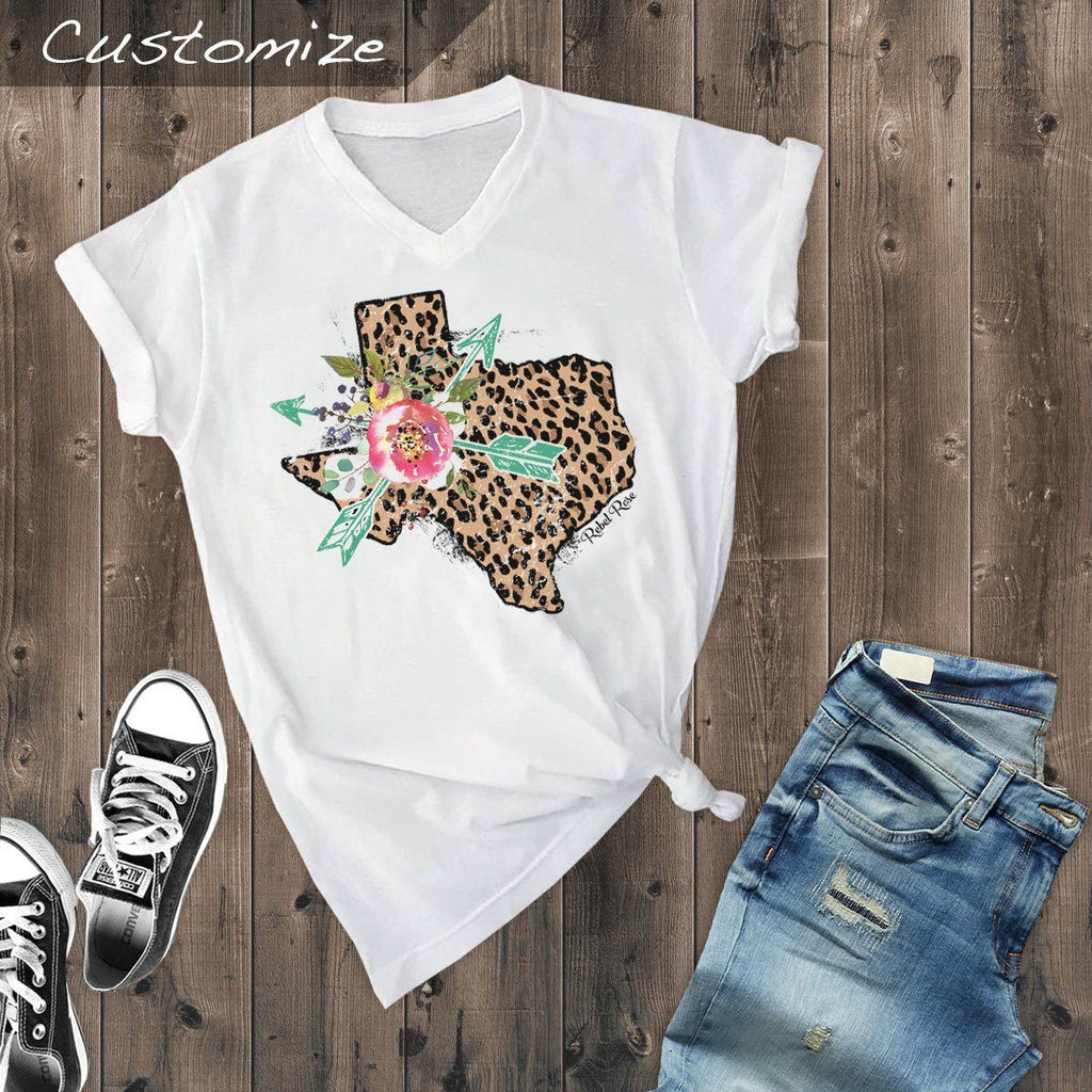 T-Shirts - Leopard Texas