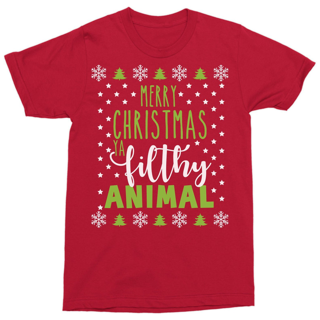 T-Shirts - Merry Christmas Ya Filthy Animal!