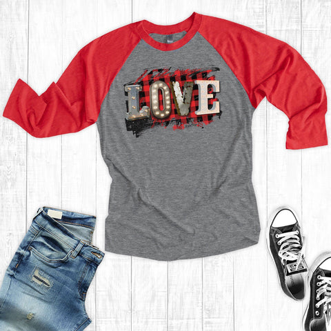 T-Shirts - Plaid Love
