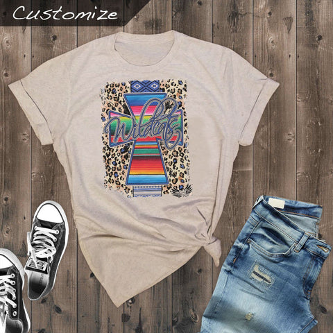 T-Shirts - Serape Aztec Cross