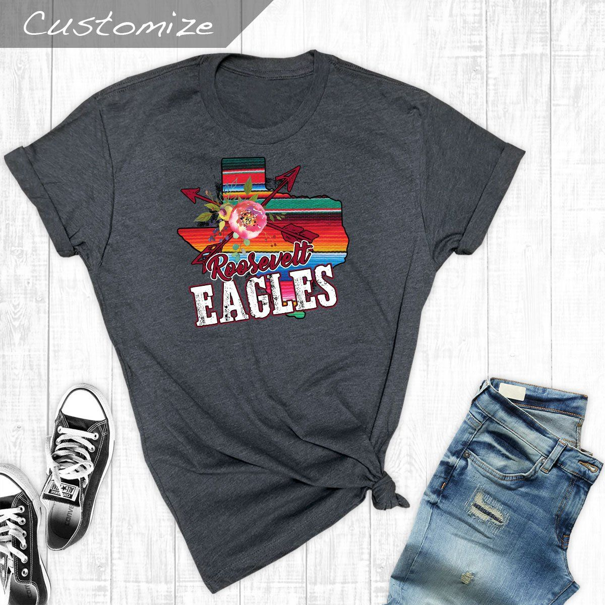 T-Shirts - Serape State Roosevelt Eagles