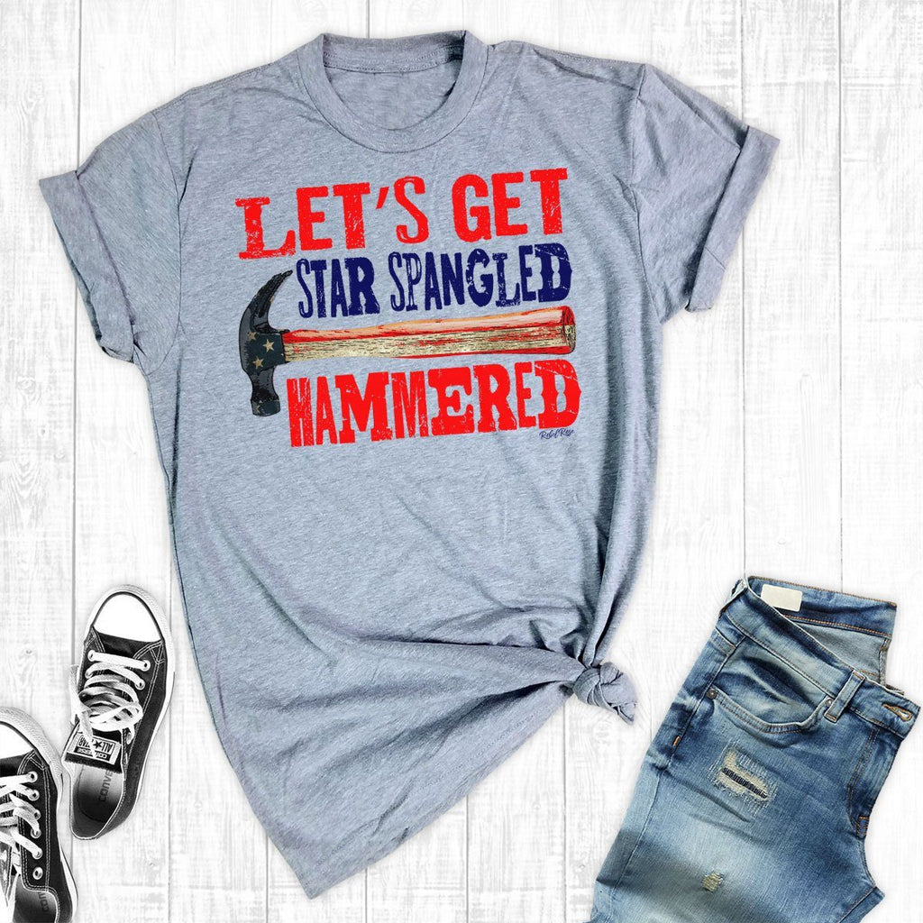 T-Shirts - Star Spangled Hammered